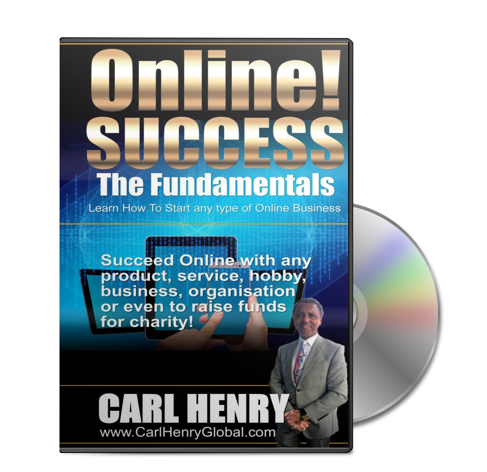 Carl Henry ONLINE! SUCCESS - DVD Box & Disc SIZE: 1650px x 1600px TYPE: PNG