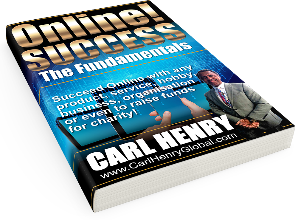 eBOOK Cover 3D Lean Back1 Carl Henry ONLINE! SUCCESS SIZE: 1000px x1405px  TYPE: PNG